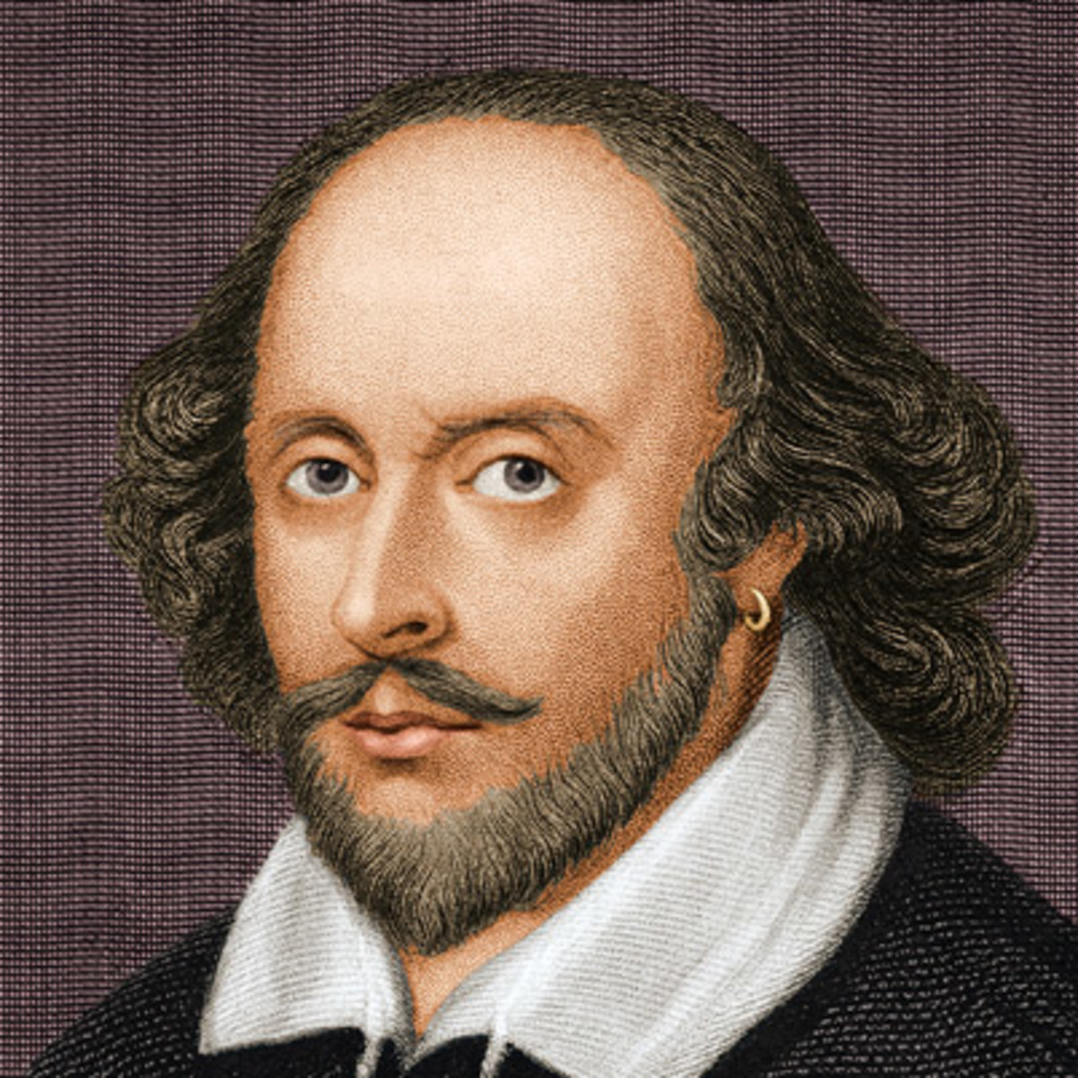"There are no ""pictures"" of Shakespeare due to the time of his birth"