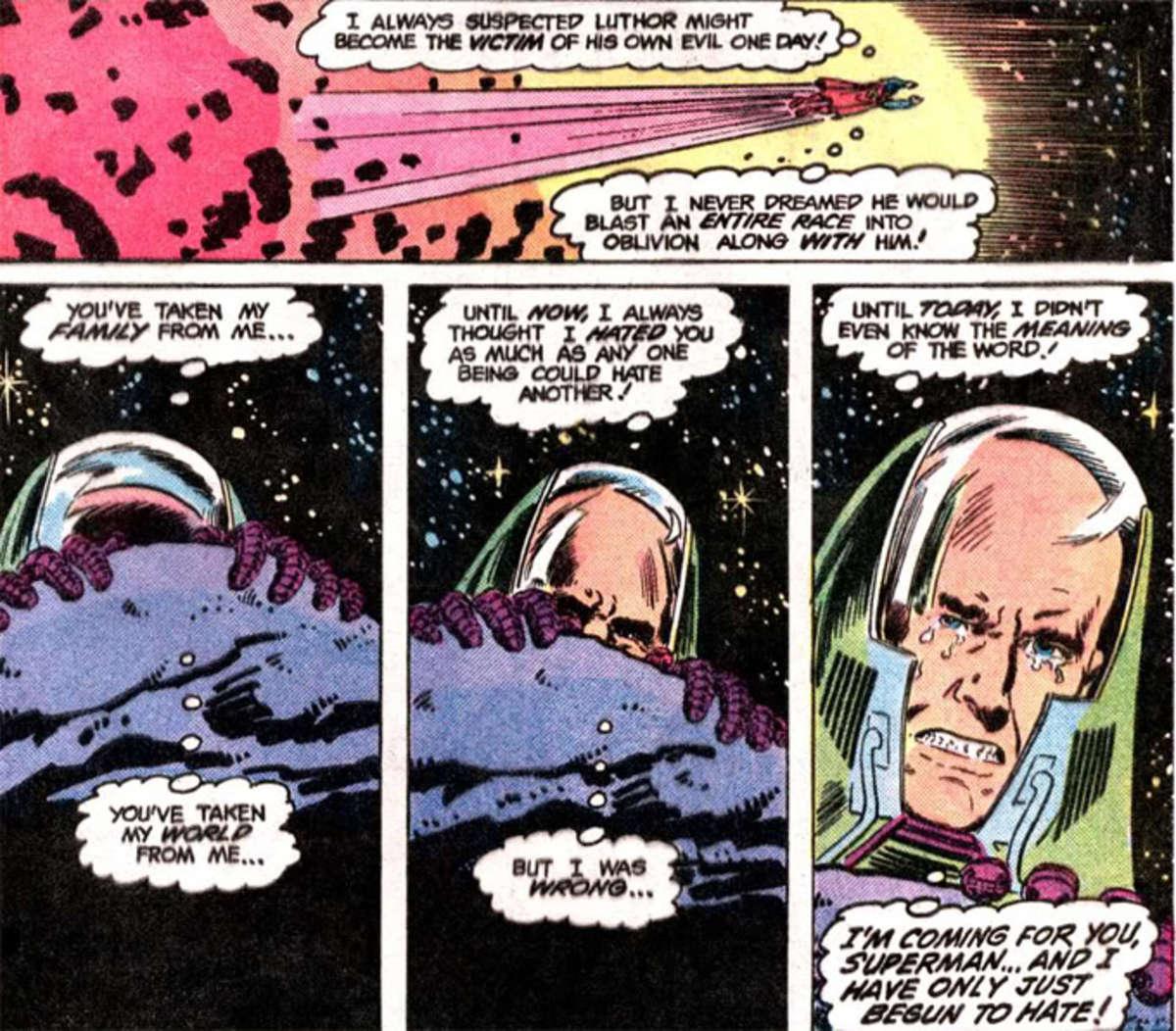 Luthor destroys Lexor and blames Superman