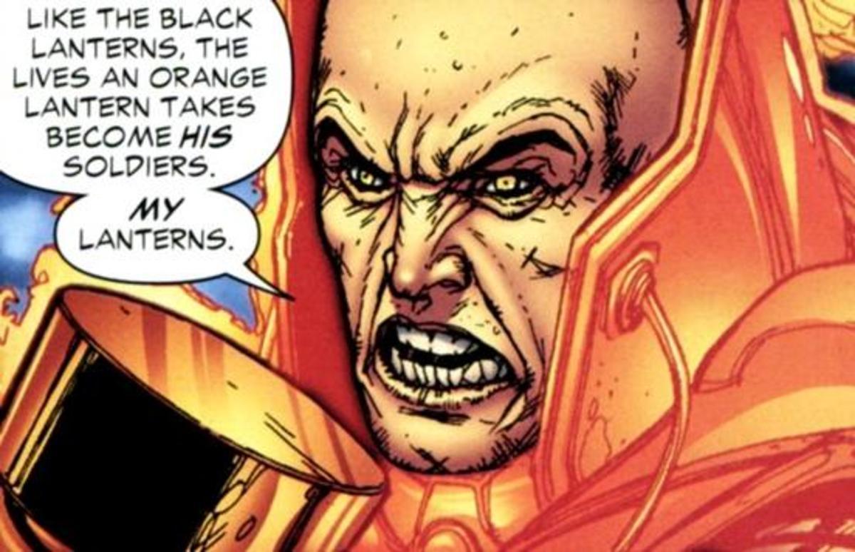 Orange Lantern Lex Luthor