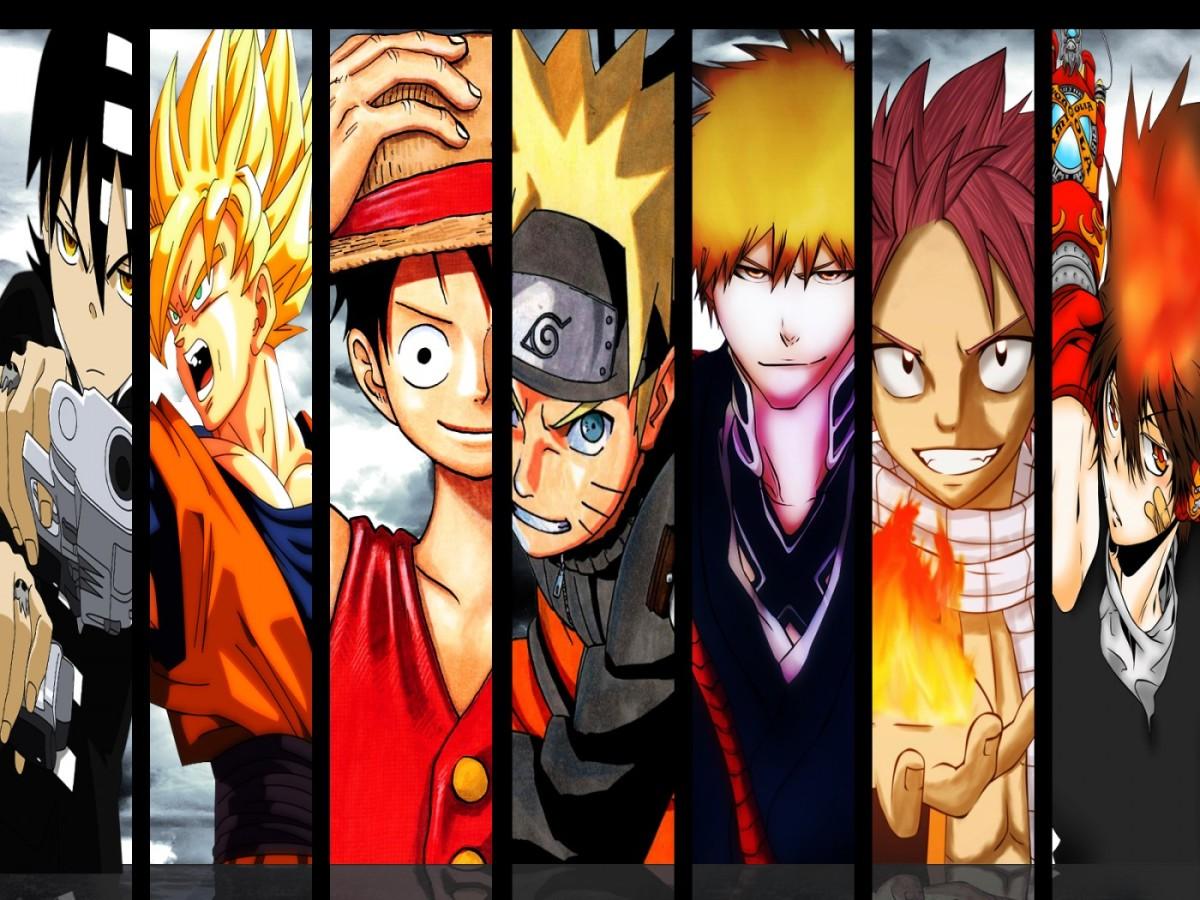 One Piece, Naruto, Bleach, Fairy Tail, DBZ