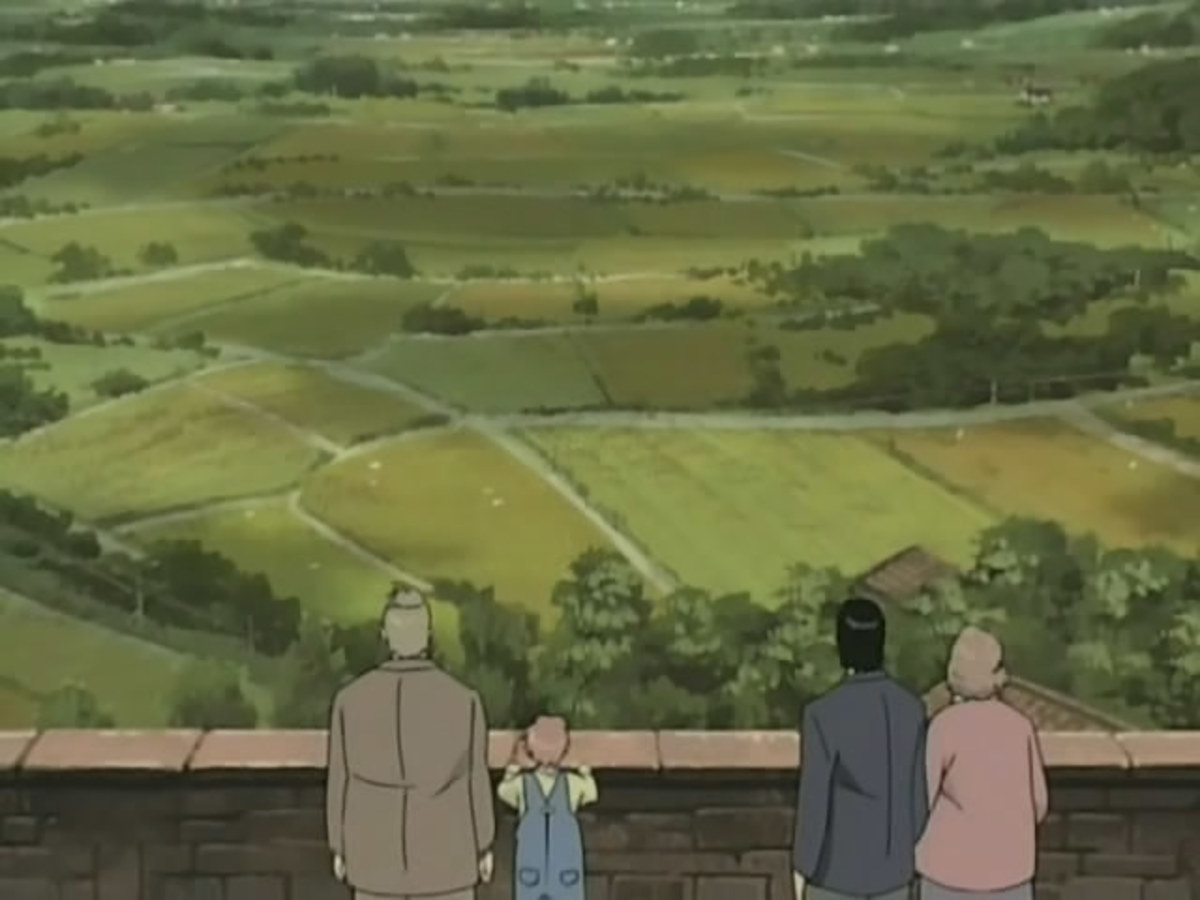 Tenma and Dieter accompany a British couple to see the view from a local castle.