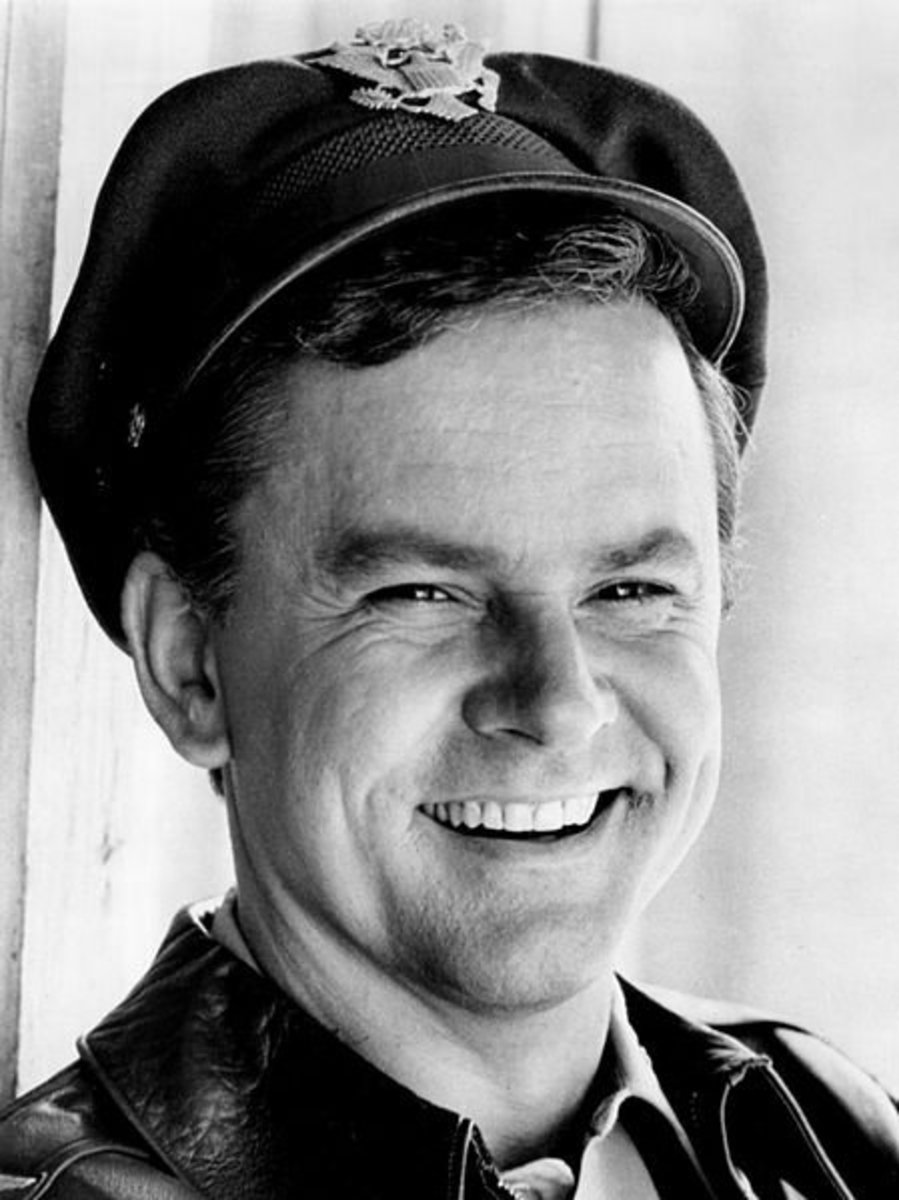 Bob Crane as Colonel Hogan from the television program Hogan's Heroes.