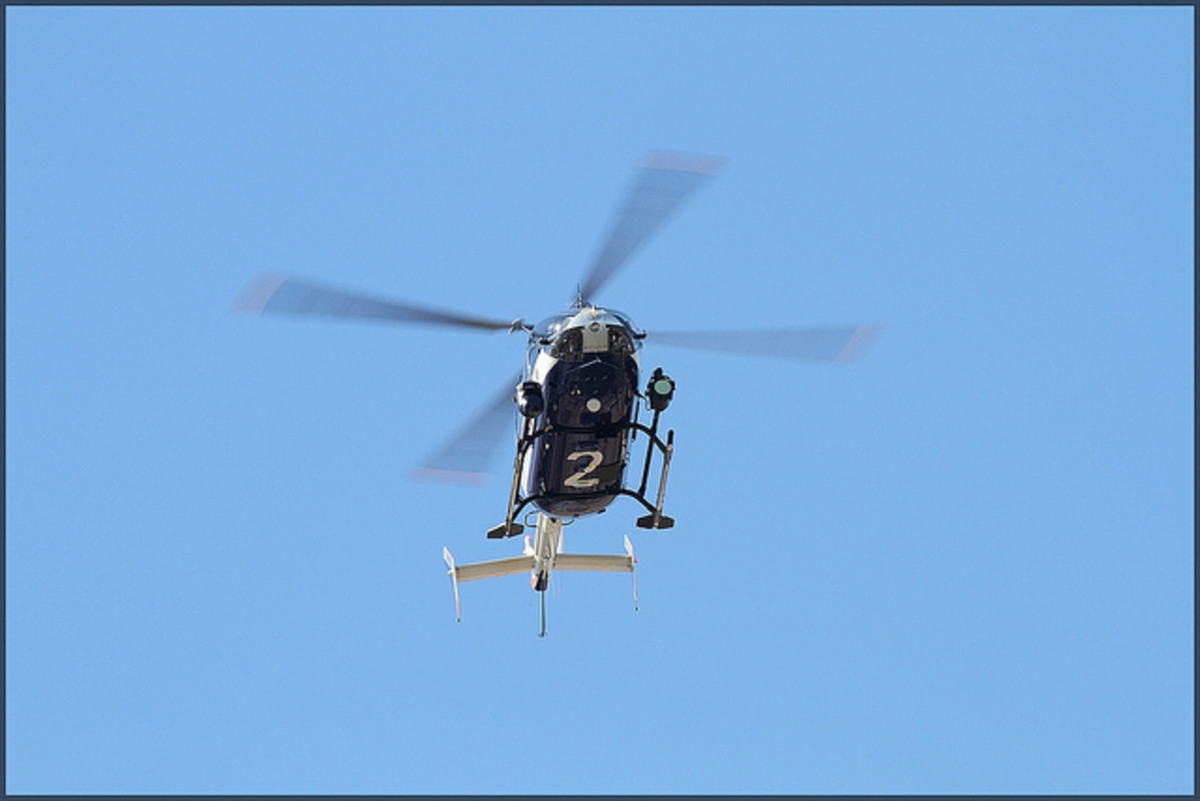 The sound of helicopters alert us that something may be happening in our community.