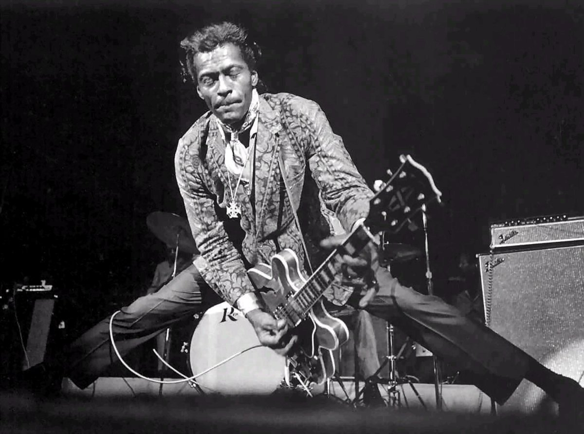 Chuck Berry stole the tune for Johnny B. Goode, but not the part he heard on the phone from his cousin Marvin, MARVIN BERRY! He stole the intro from a (then) decade-old song!