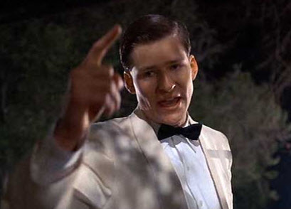 "Most of the movie is exciting and funny, and the best part is when George McFly tells Biff to get his ""damn hands off her"" and then punches him out cold."