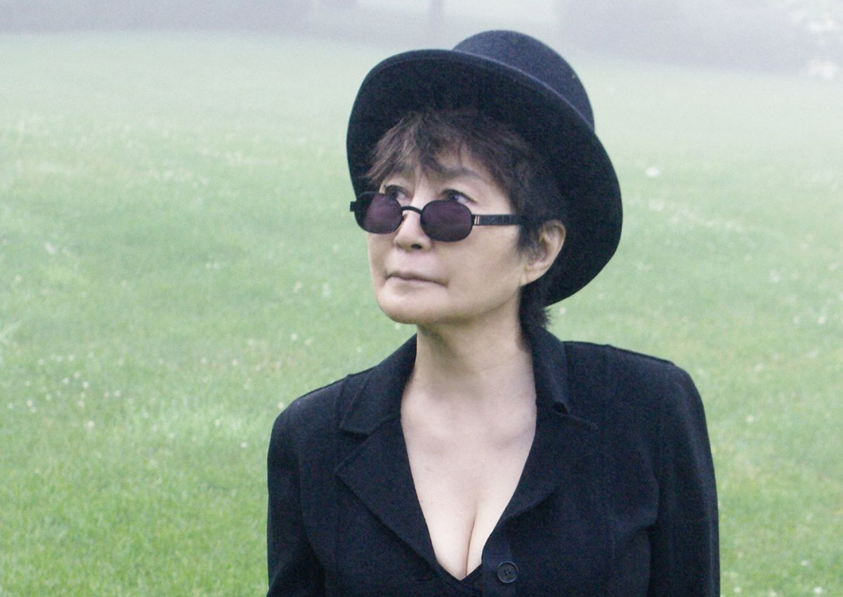 Taken at her exhibition, Yoko Ono: One More Story permission to use in public domain