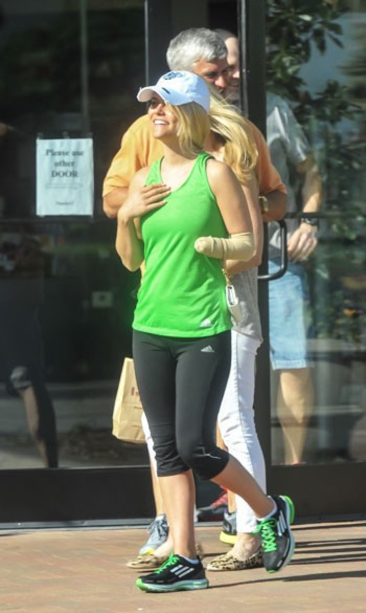 Lauren Scruggs in public for the first time
