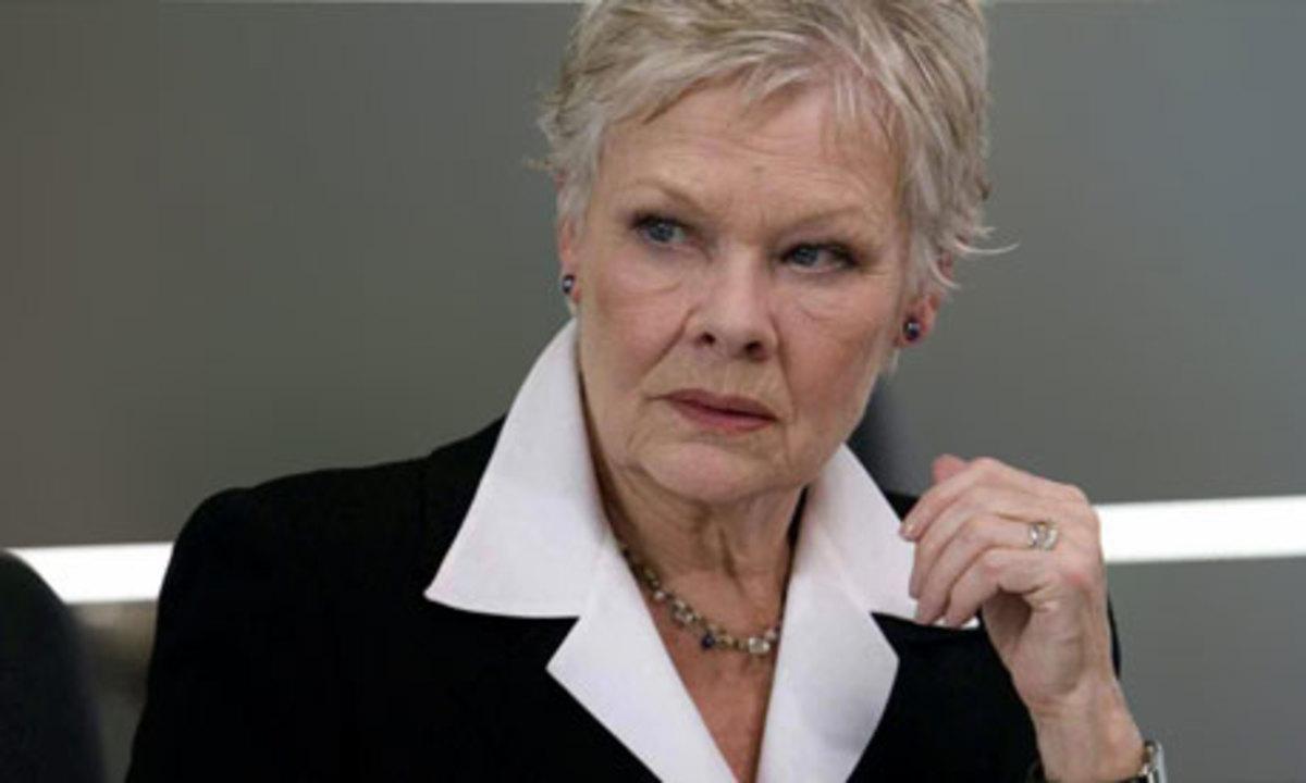 Dame Judi Dench as 'M'