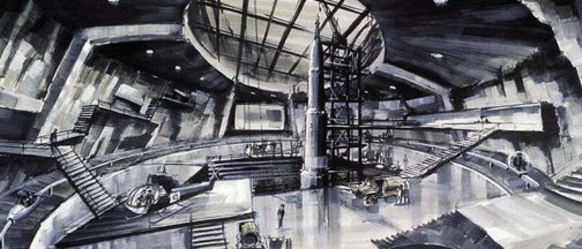 Ken Adam's production design for You Only Live Twice