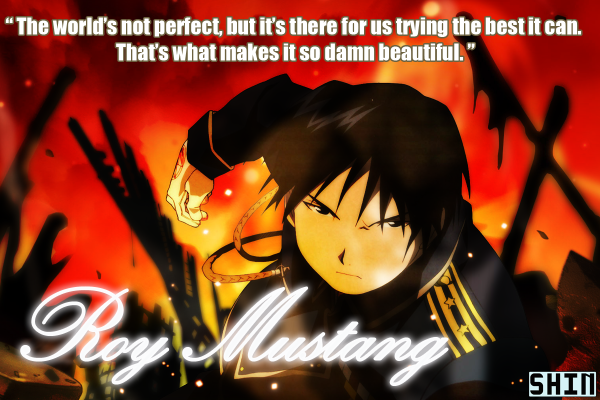 Roy Mustang's famous quote in picture form.