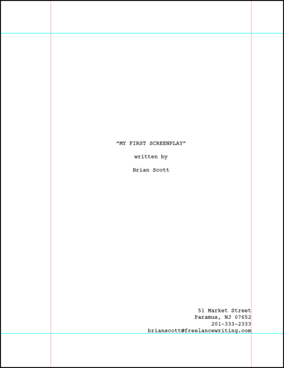 How to format a title page for your screenplay reelrundown these elements include 1 the title of your script 2 your byline 3 your contact information and if applicable 4 your agents contact information pronofoot35fo Gallery