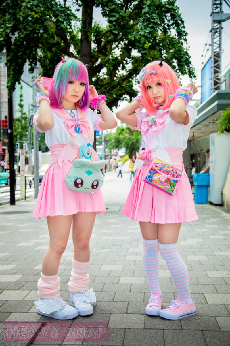 "This is an example of the ""Fairy Kei"", one of many fashion subcultures from Japan that is admired and copied around the world."