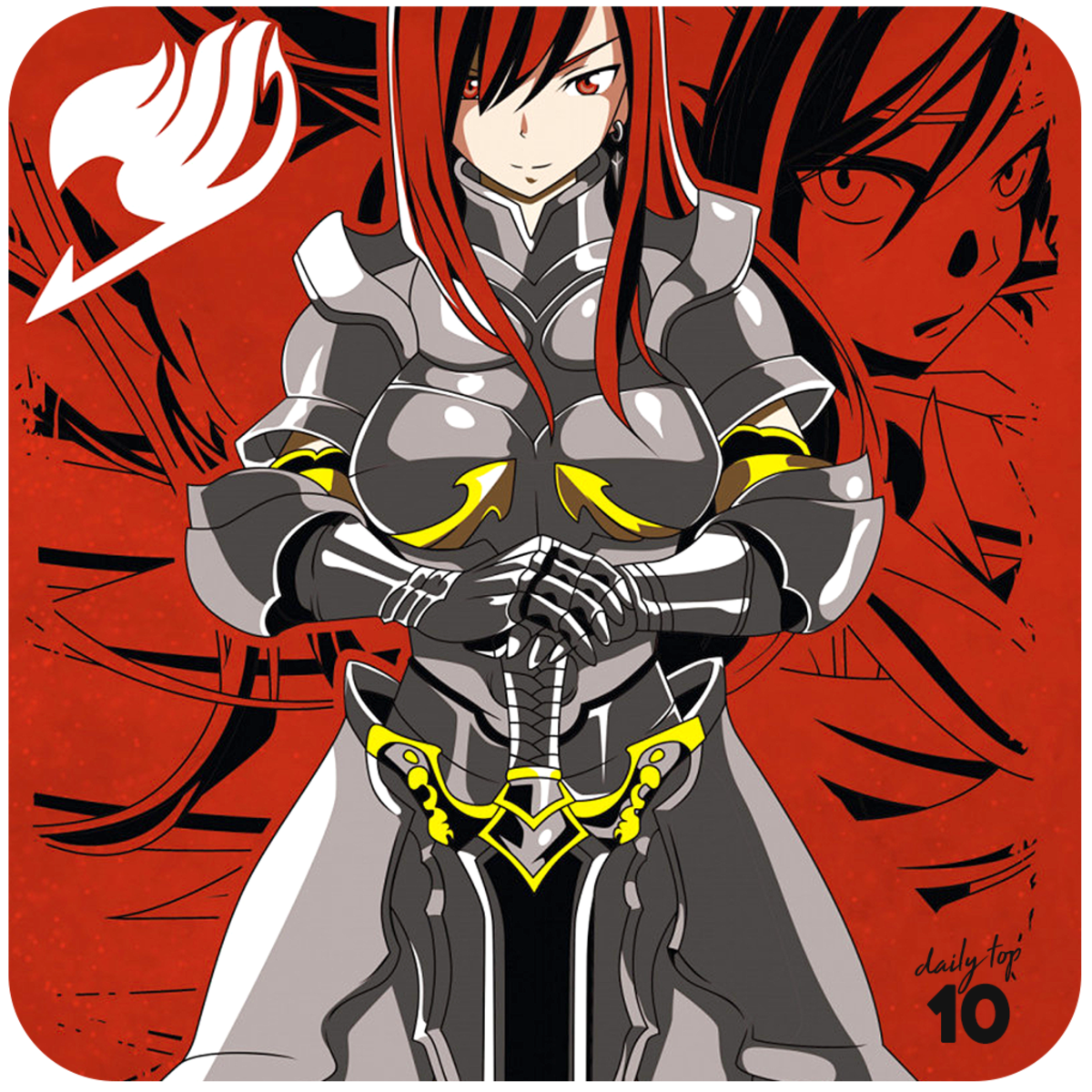 Erza Scarlet with her Black Wing Armor.