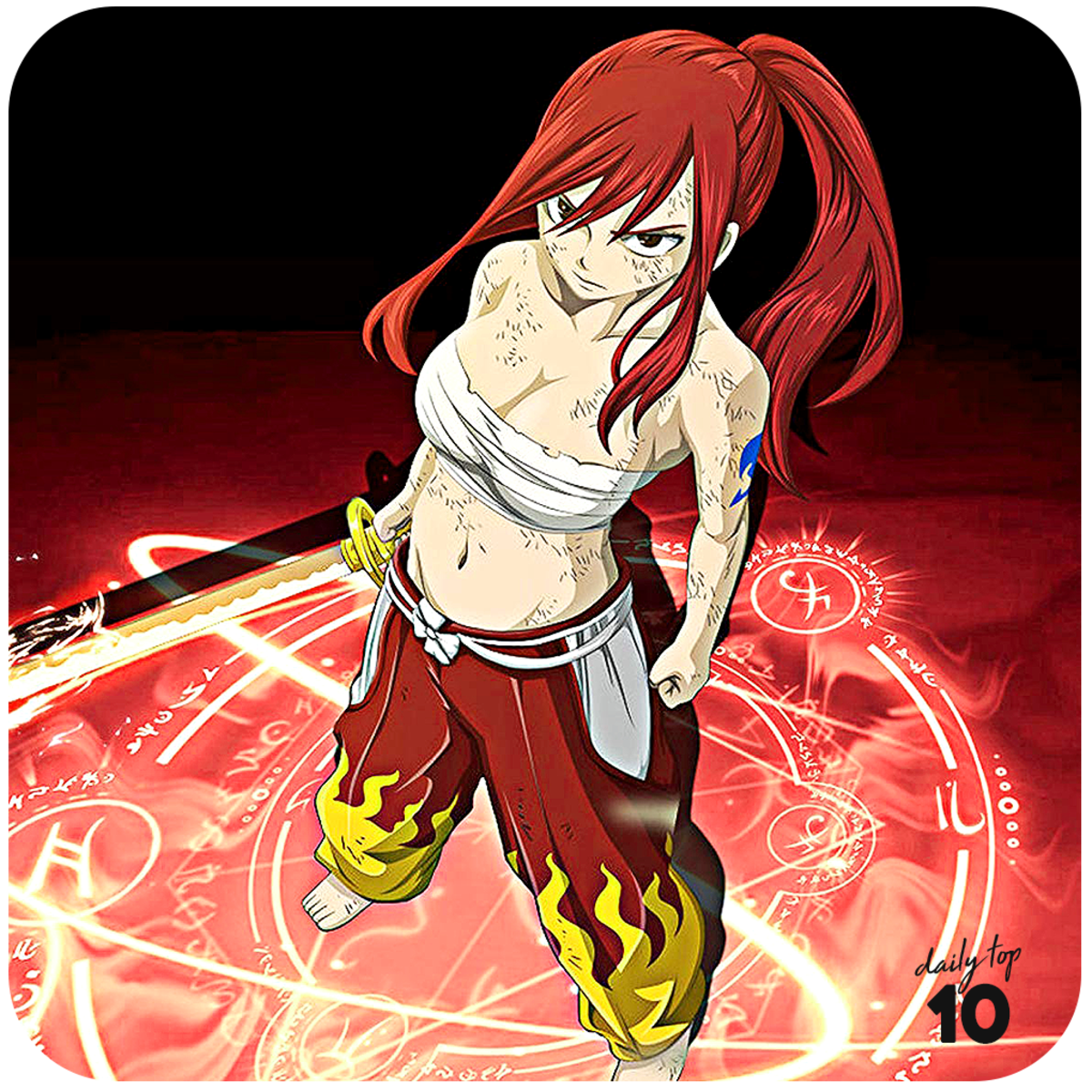 Erza Scarlet with Clear Heart Armor.