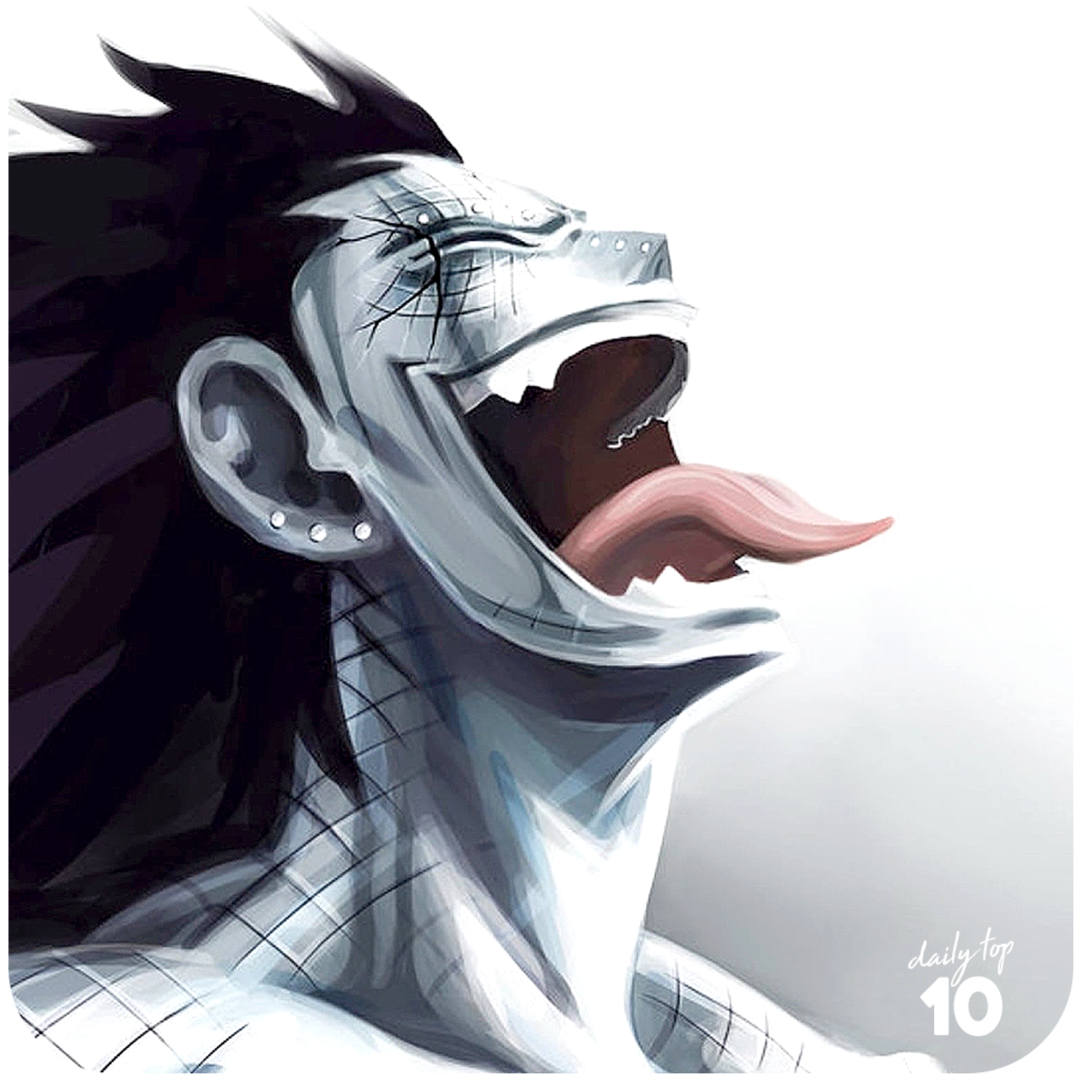 Gajeel Redfox tongue out.