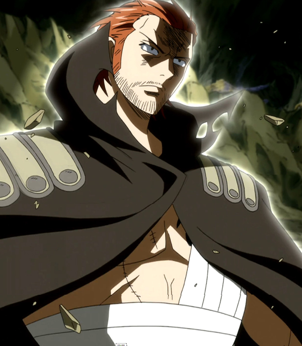 Gildarts with magic aura