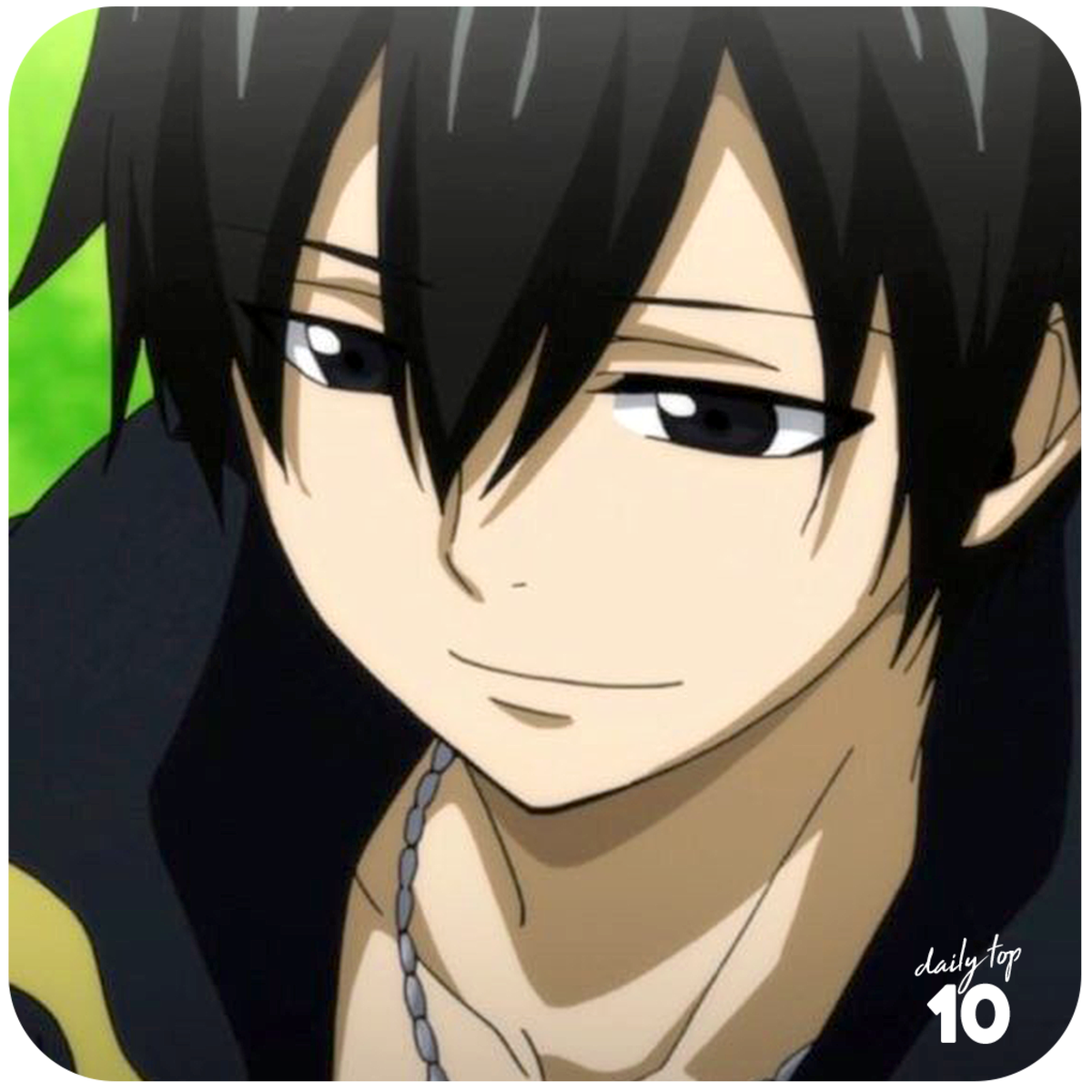 Zeref Dragneel smiling.