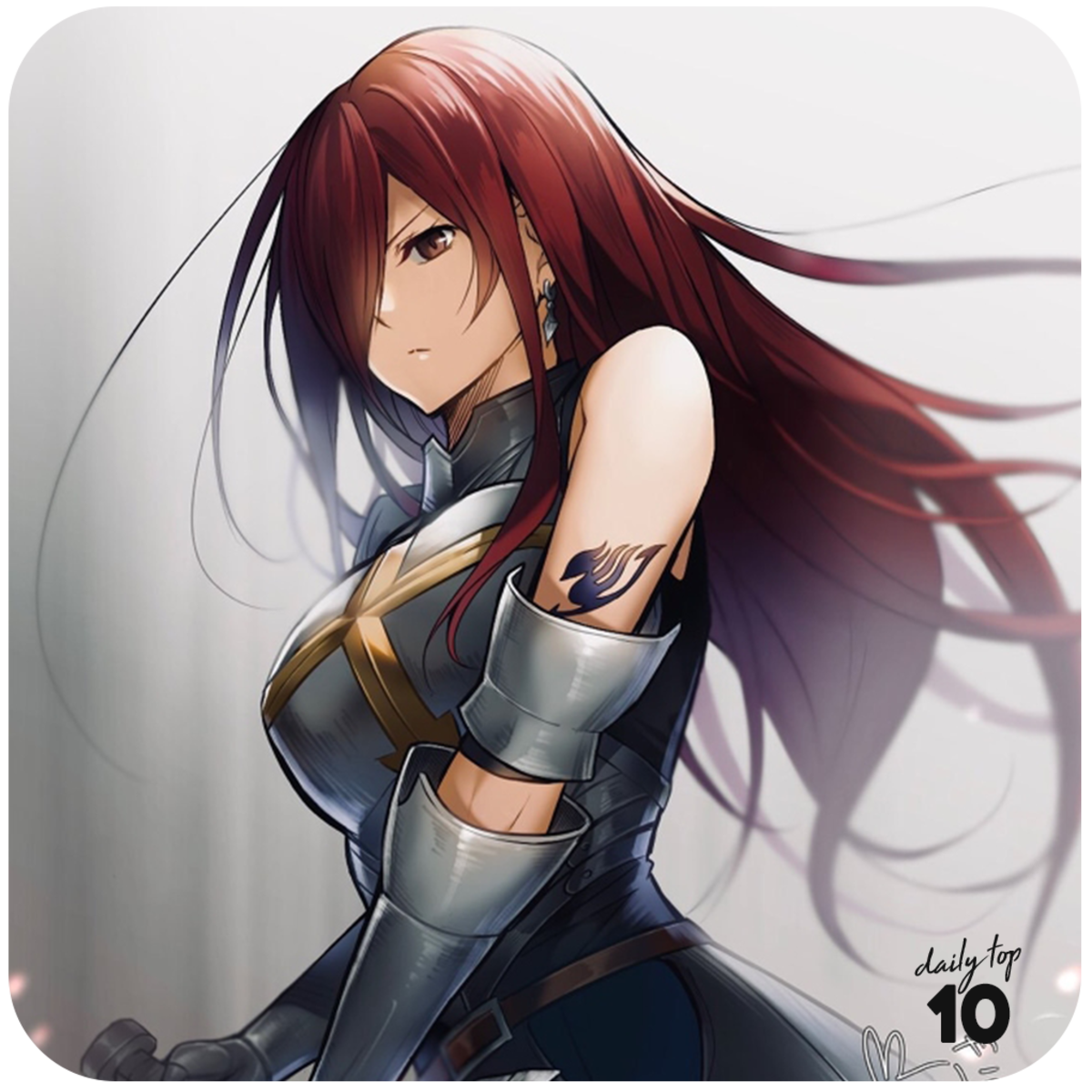 Erza Scarlet fan art.