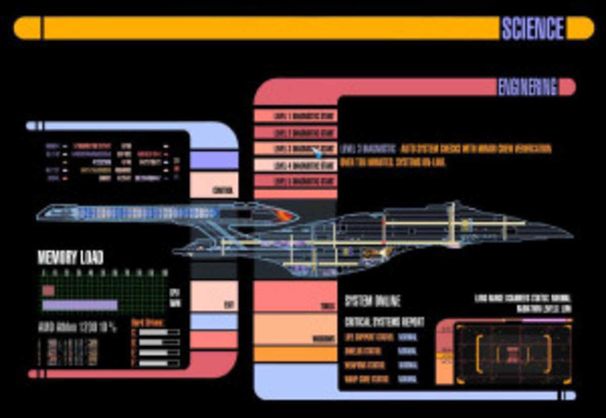 One of the many examples of crazy GUI on-board the Starship Enterprise. Any Star Trek fans out there?