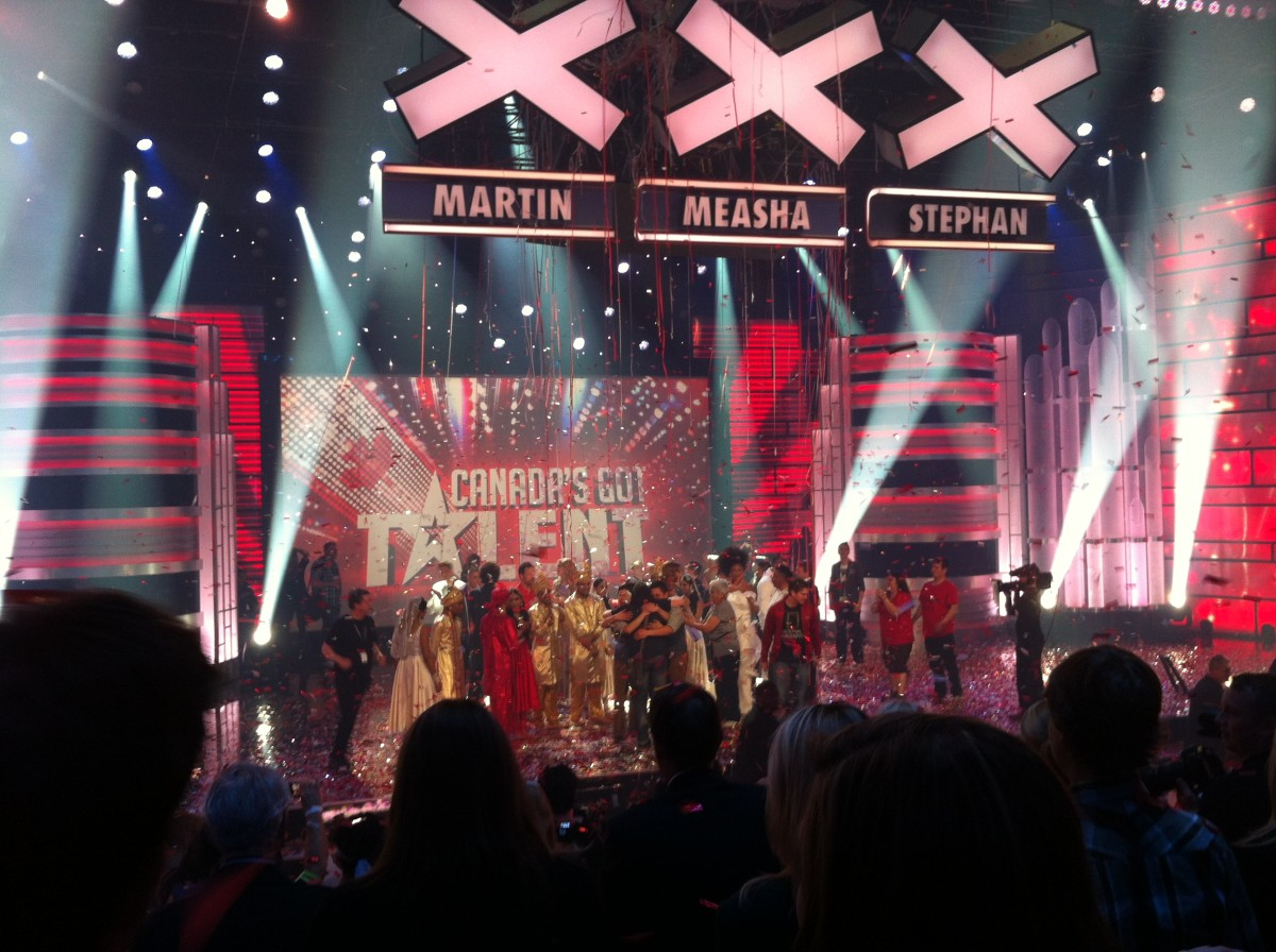 My daughter and I were in the studio audience for the 2012 finale of Canada's Got Talent.