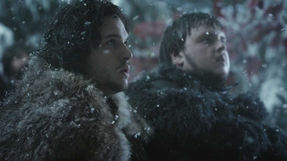 Jon Snow (Kit Harrington) and Samwell Tarly (John Bradley-West)