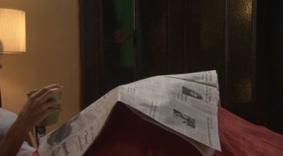 "Earl Hays newspaper prop in ""Why I Wore Lipstick to My Mastectomy"" (2006)"