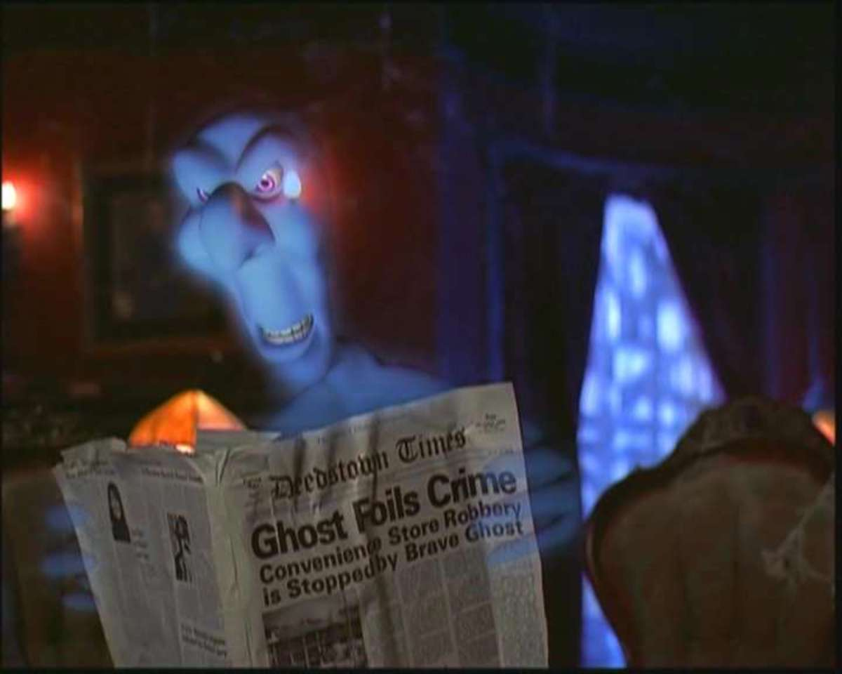Earl Hays newspaper prop in Casper (1995)