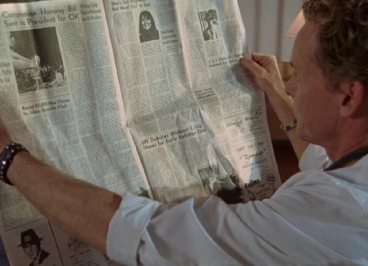 "Earl Hays newspaper prop in ""Scrubs"" (2010) Season 7 Episode 11"