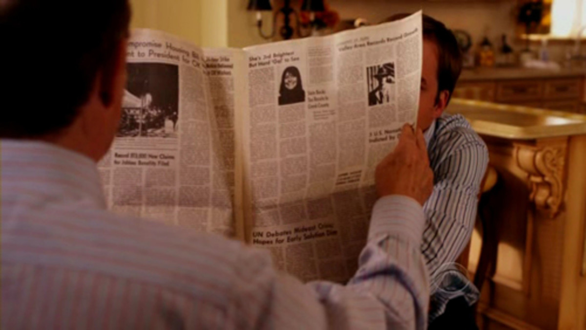 "Earl Hays newspaper prop in ""Worst Week"" (2009)"
