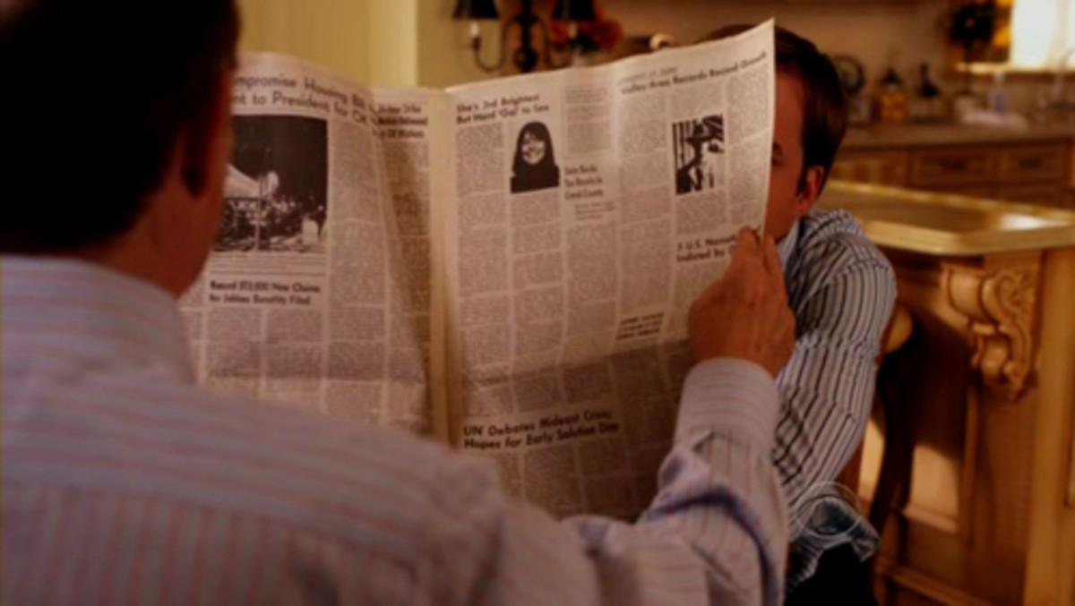 """Earl Hays newspaper prop in """"Worst Week"""" (2009)"""