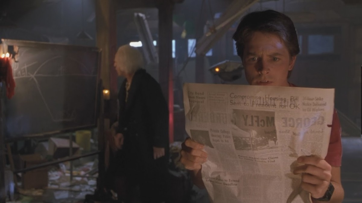 "Earl Hays newspaper prop in ""Back to the Future"" (1989)"