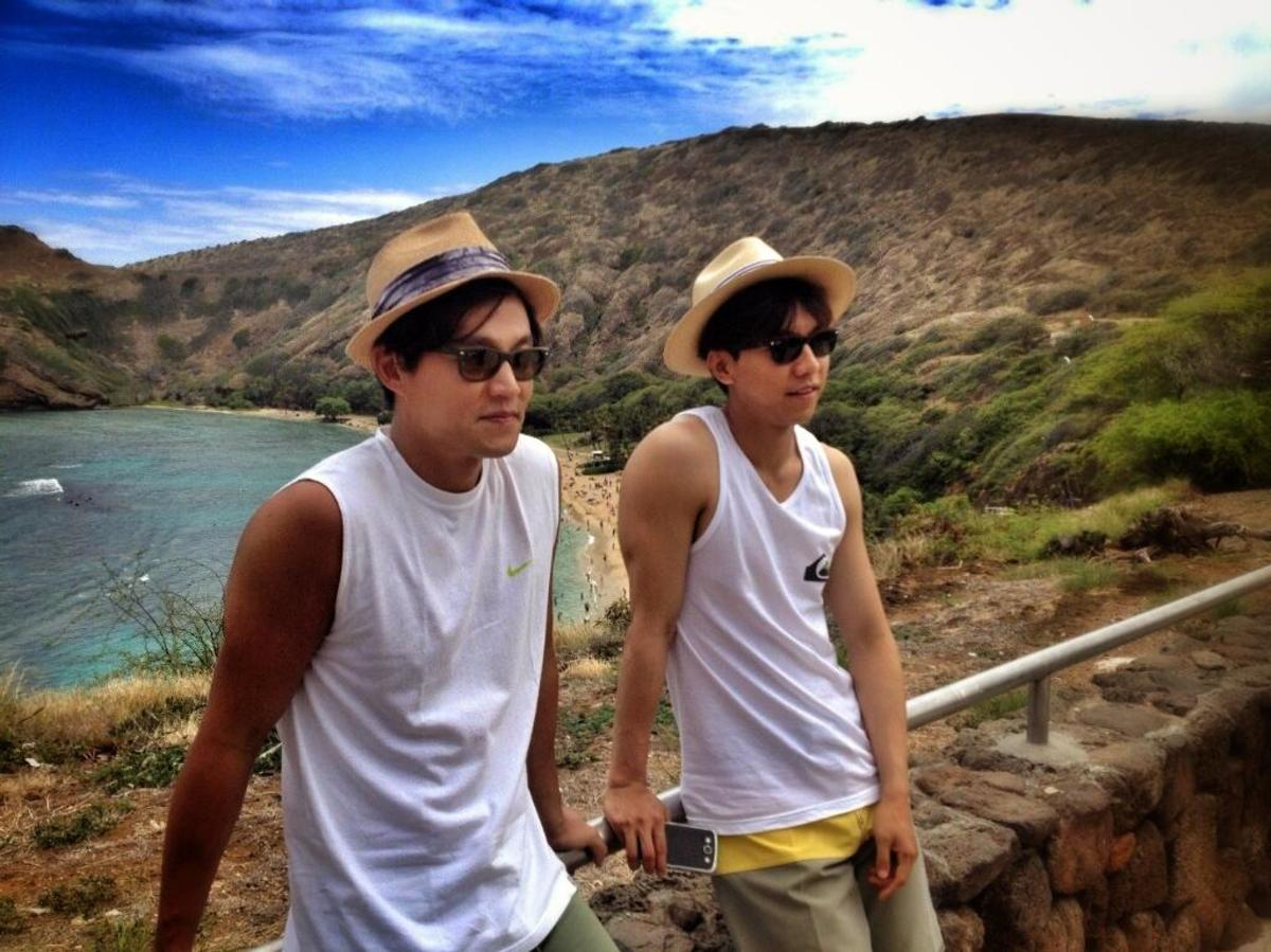 Lee Seung Gi & Lee Seo Jin during their Hawaii vacation.