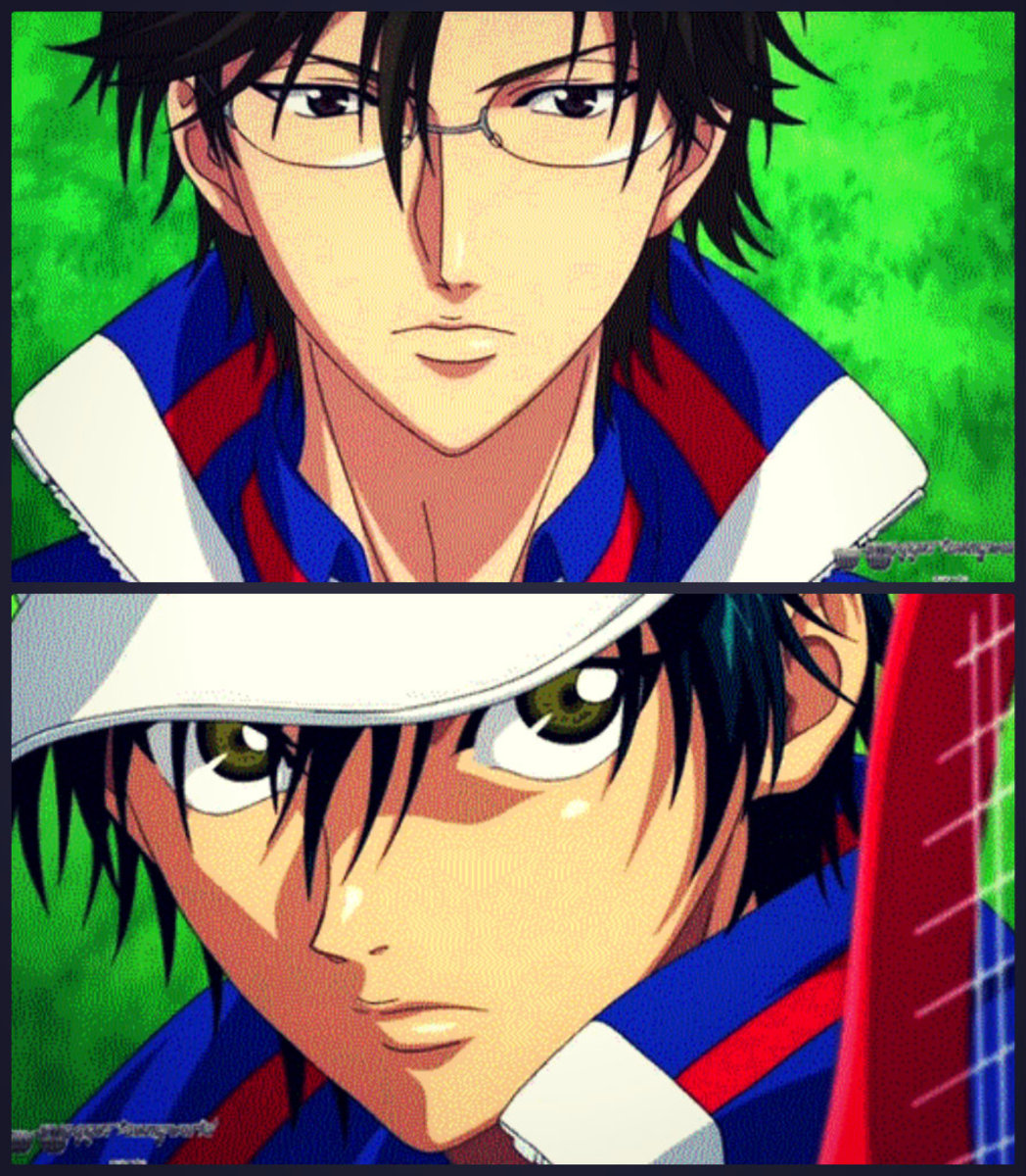 Kunimitsu Tezuka and Echizen Ryoma (Prince of Tennis)