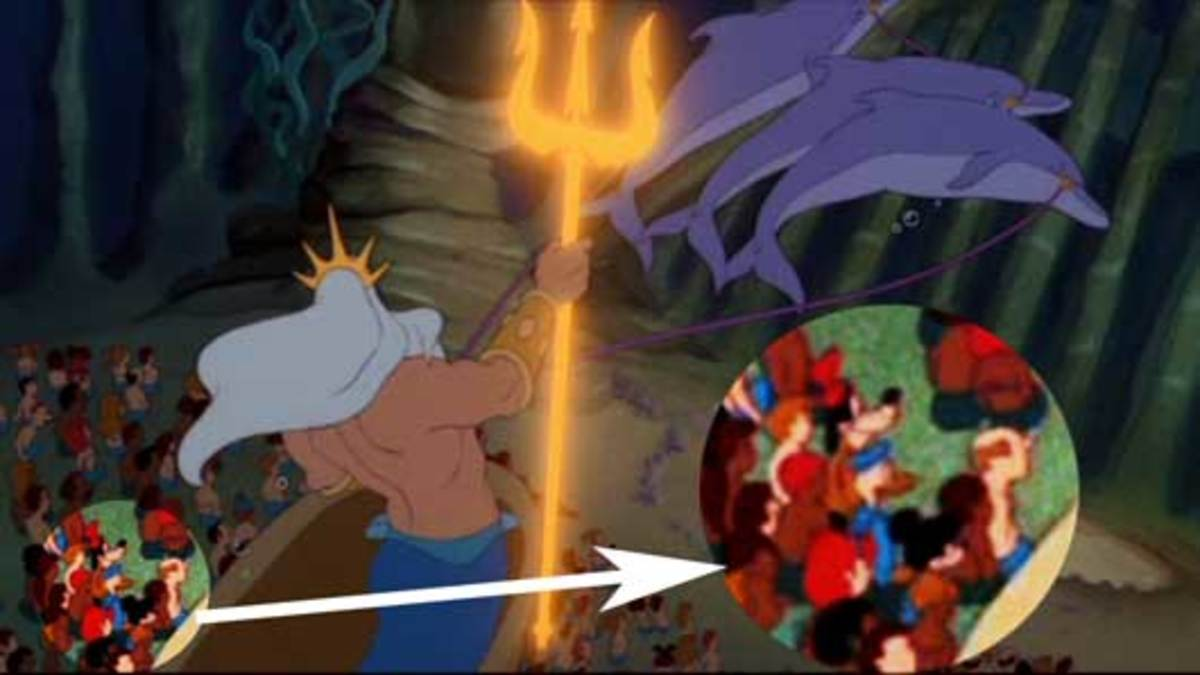 the little mermaid hidden images