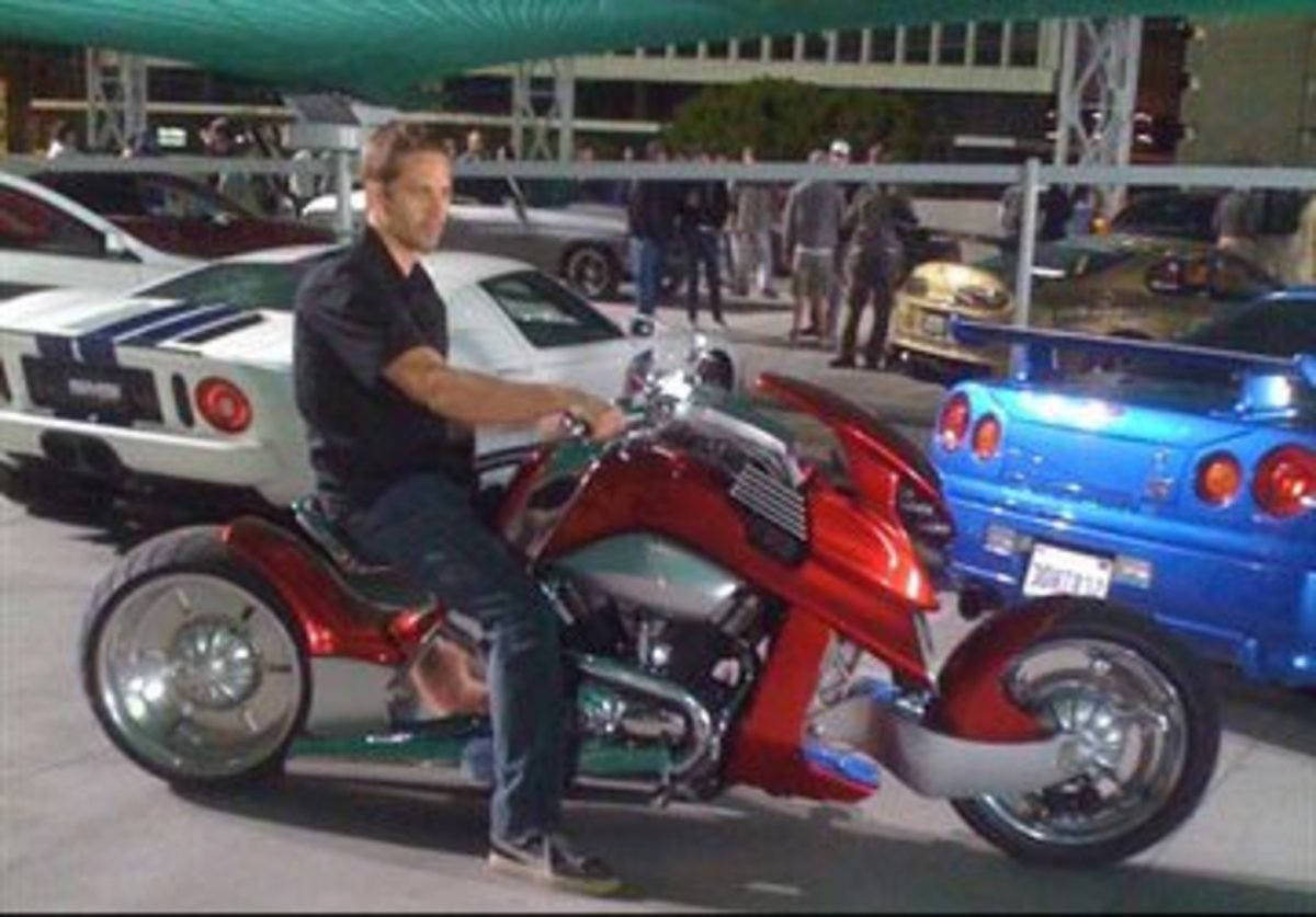 Paul Walker on a Motorcycle