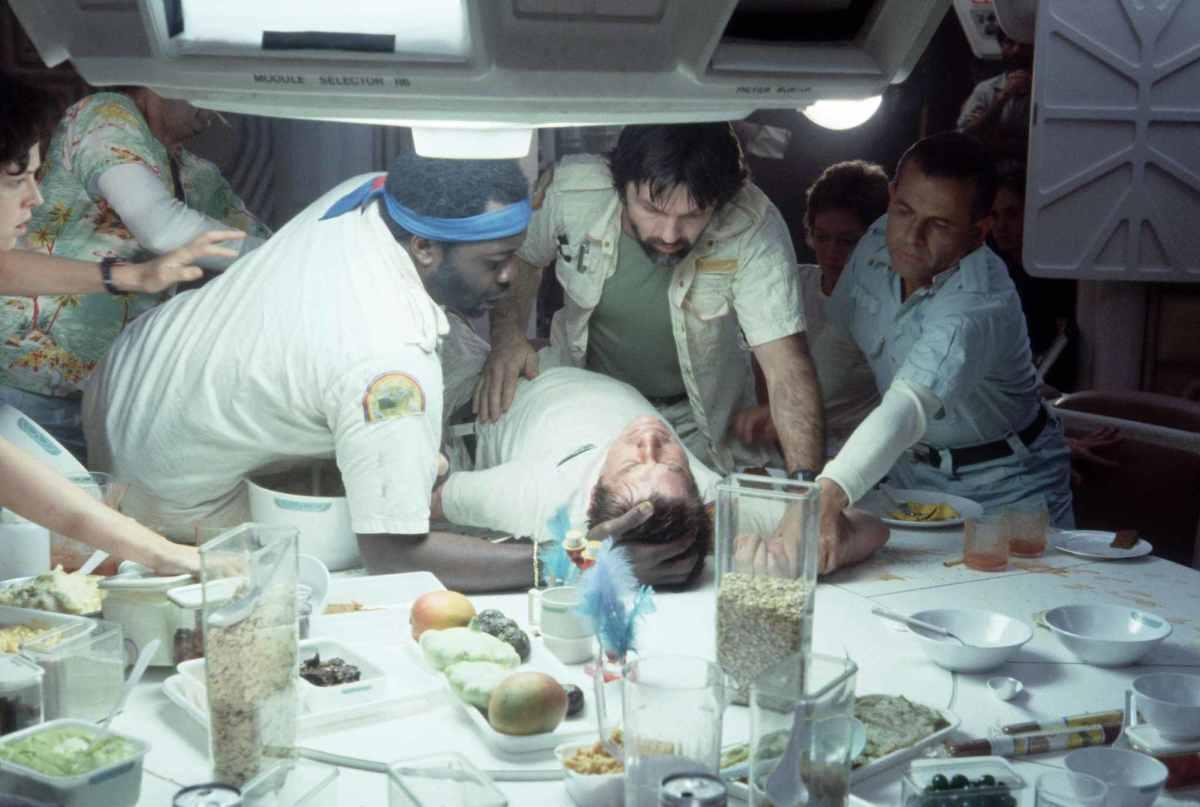 The famous dinner scene in Alien
