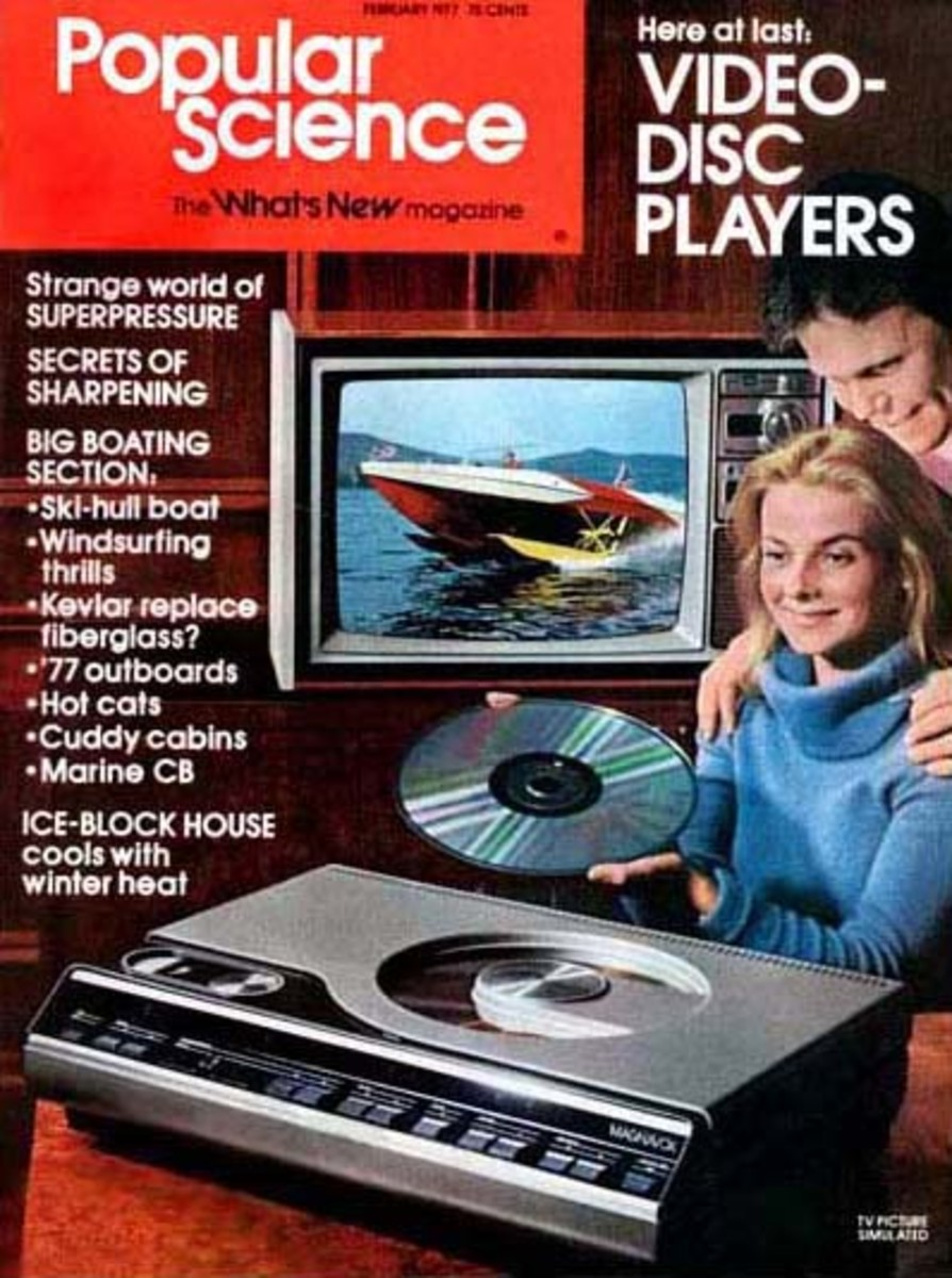LaserDIsc on the cover of Popular Science magazine.