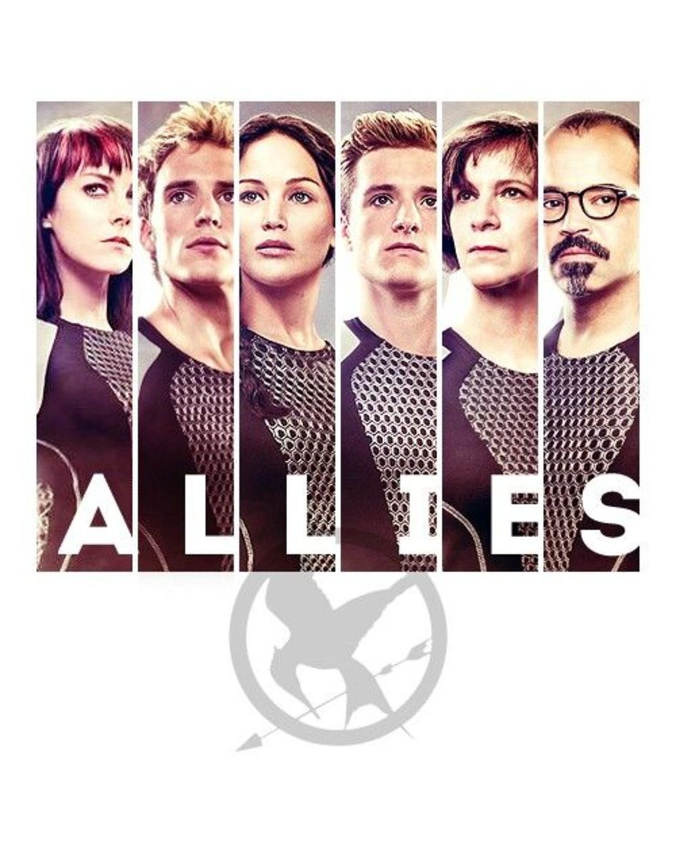 allies in The Hunger Games, Katniss, Peeta, Johanna, Finnick, Wiress & Beetee