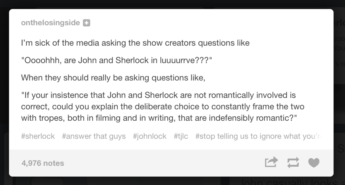 tumblr user onthelosingside attempts to elevate the discussion regarding the slash pairing
