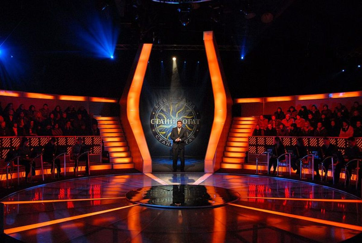 "TV studio for ""Who Wants to be a Millionaire"" in Bulgaria."