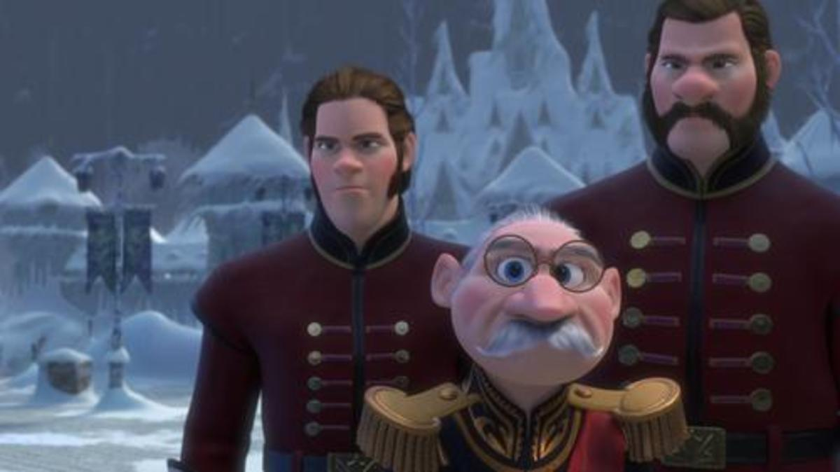 Duke of Weselton and his sidekicks; Frozen, 2013.