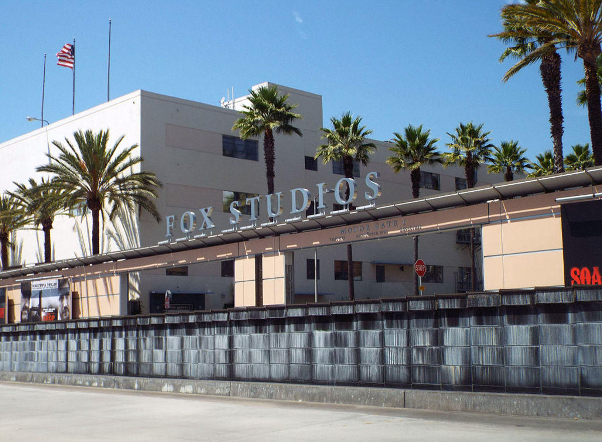 The entrance of 20th Century Fox's studio lot.