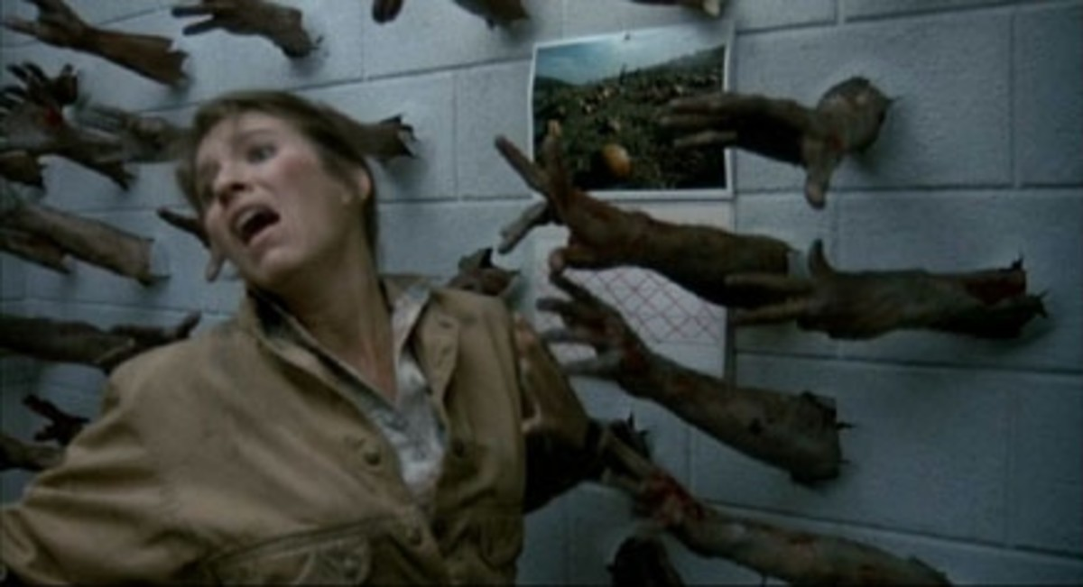 Yeah, that's  a brick wall, I seriously doubt Zombies could break brick walls with their bare hands...