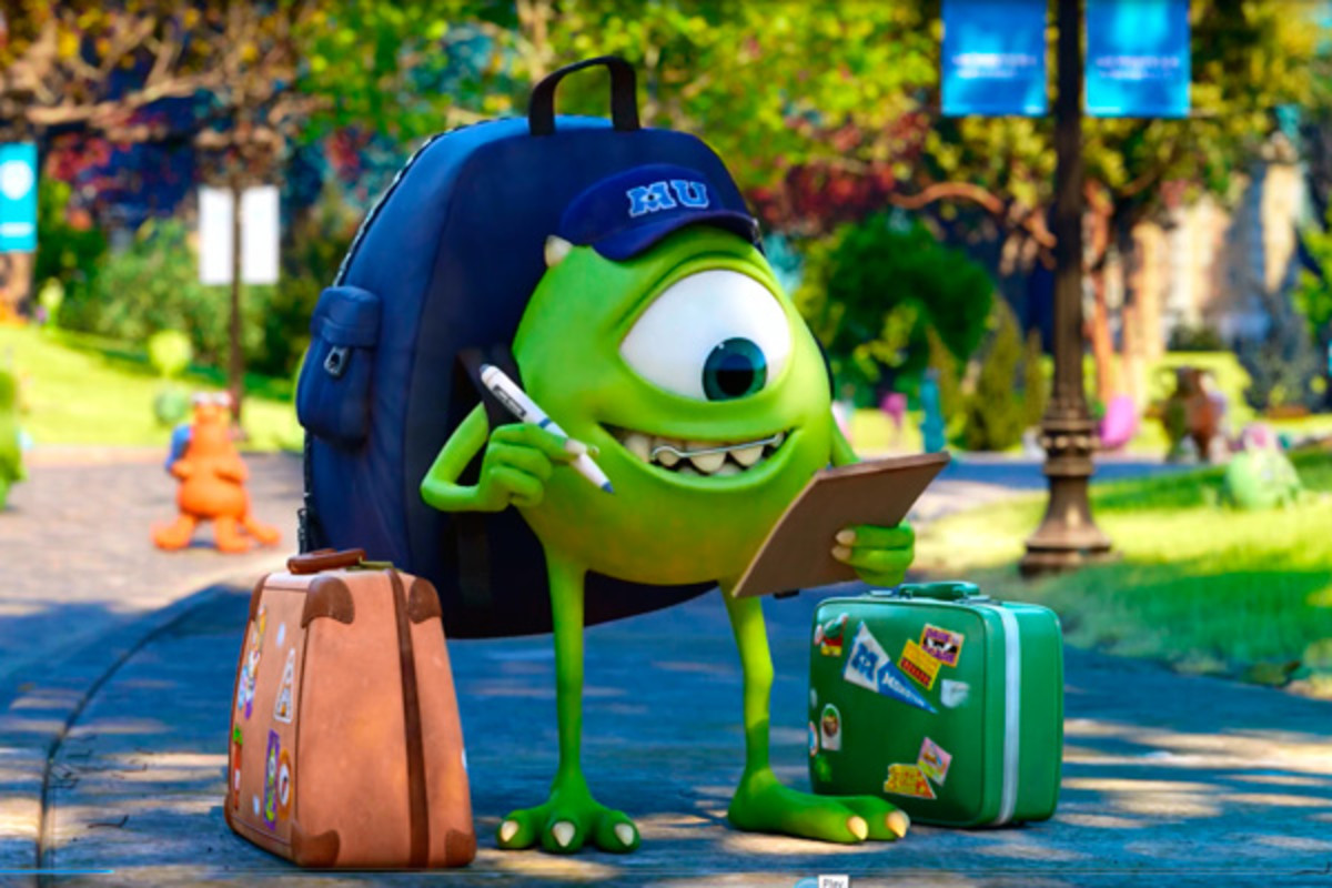Mike Wazowski on his first day at Monsters University.