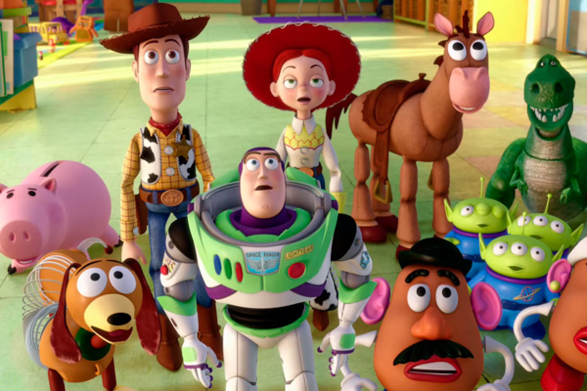 "Toy Story characters in Toy Story 3. The green little alien ""children"" are my favourites!"