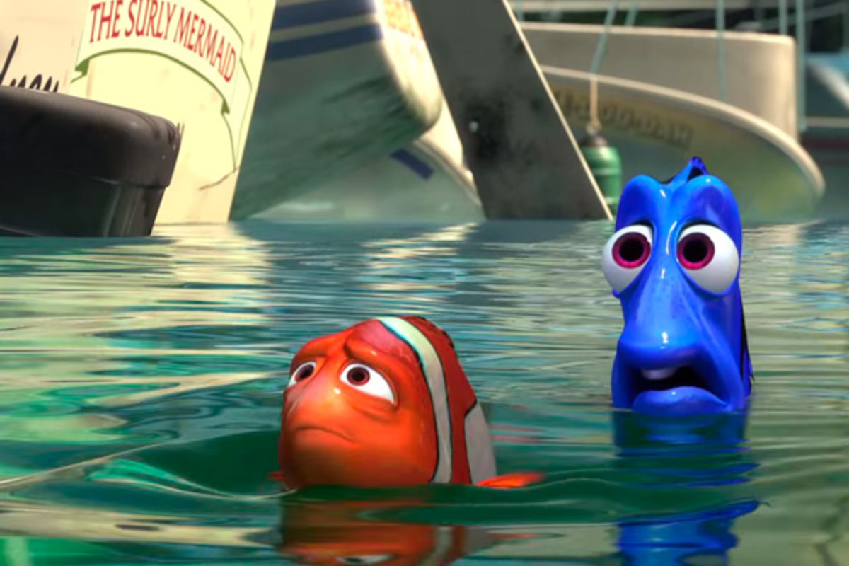 Marlin and Dory undertake a long journey to find Nemo.