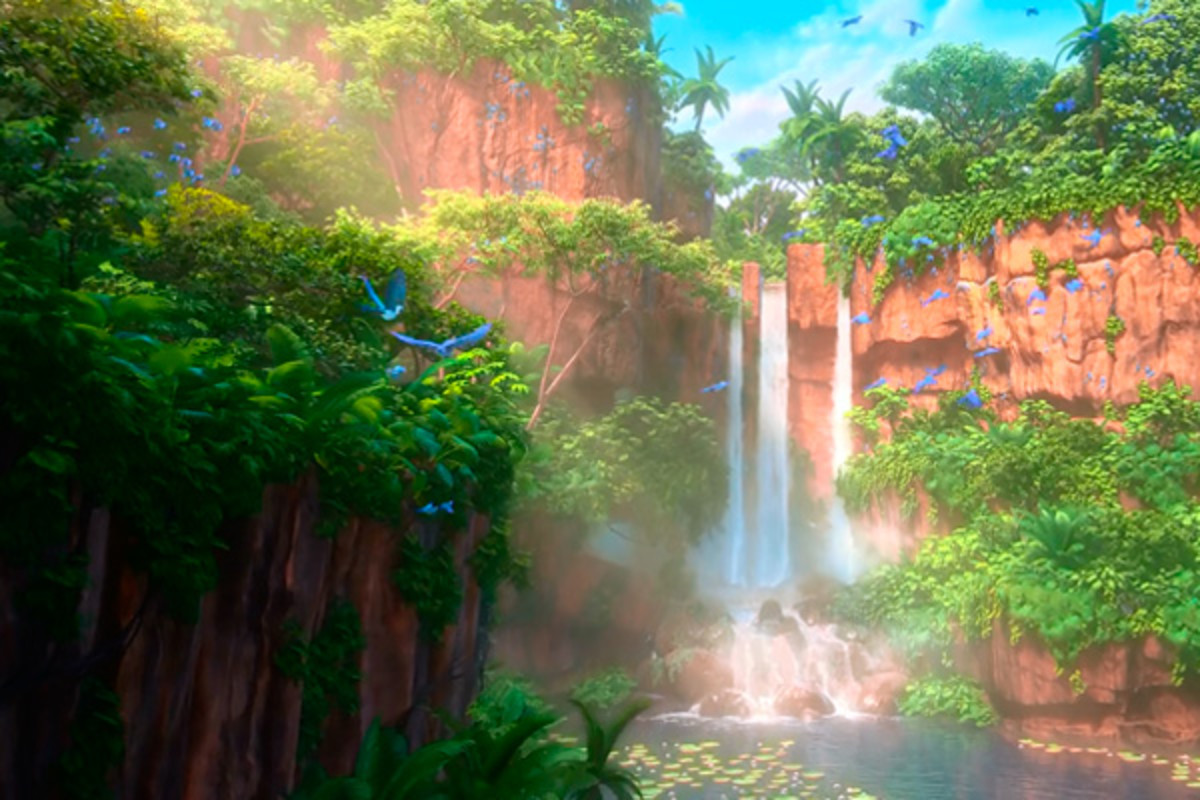 Example of the breathtaking scenery in the Amazon jungle (where about half the movie is set) in Rio 2.