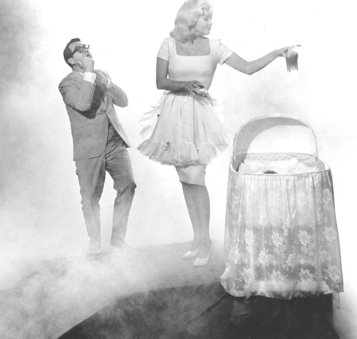 Dream sequence from Promises! Promises!  Jayne with Tommy Noonan.