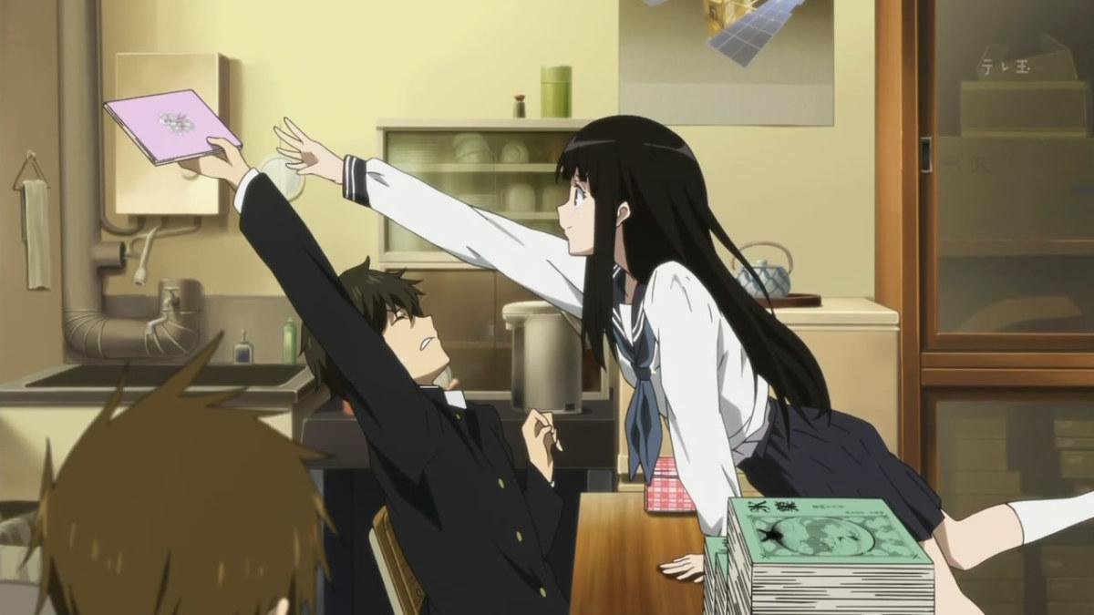 Kawaii the cutest anime couples reelrundown 19 chitanda eru and oreki hotarou hyouka thecheapjerseys Image collections