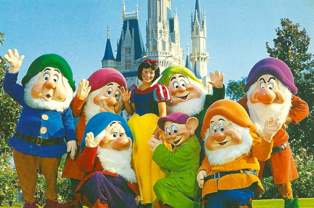 Snow White and the Seven Dwarfs at Walt Disney World.